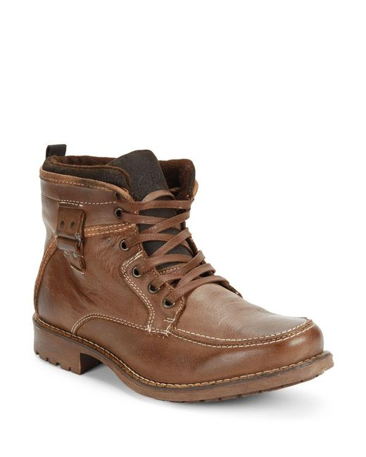 gbx tate leather boots in brown for lyst