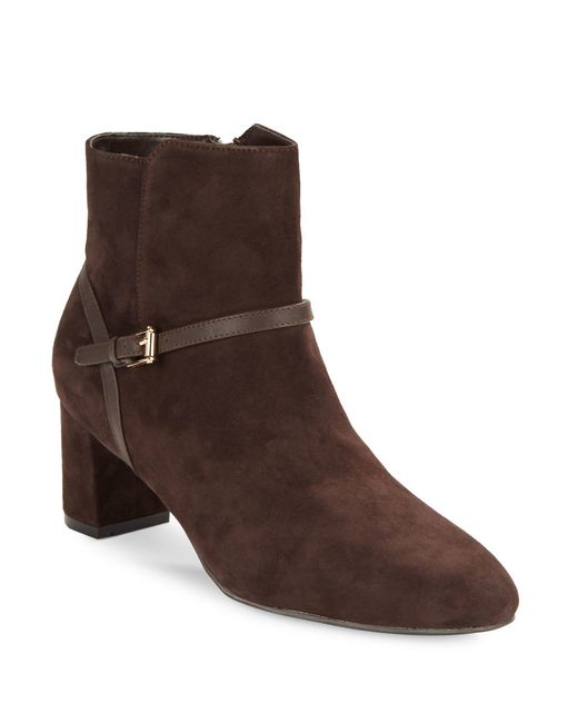 cole haan sylvan suede ankle boots in brown lyst