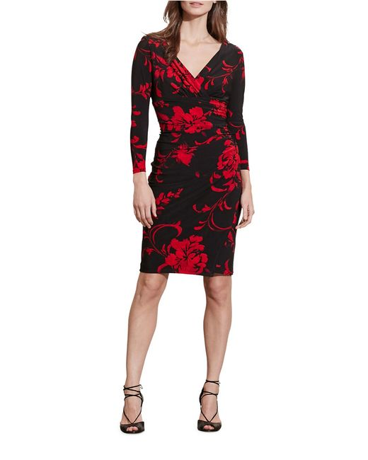 Lauren By Ralph Lauren Floral Jersey Dress In Red Save