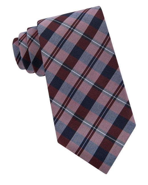 Calvin Klein | Purple Picnic Check Tie for Men | Lyst