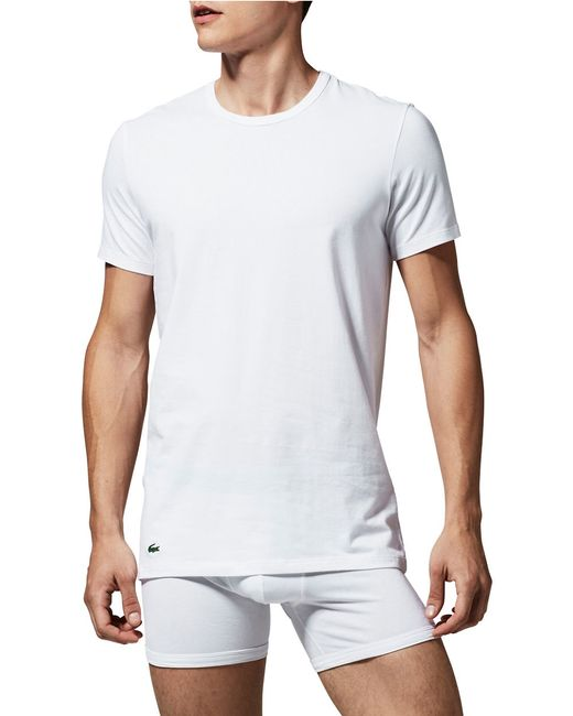 Lacoste | White Men's Crew-neck 2 Pack Undershirts for Men | Lyst