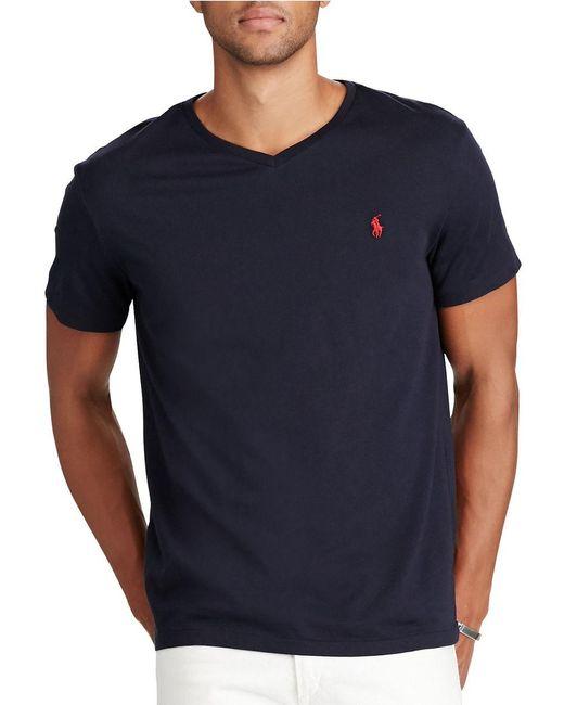 Polo Ralph Lauren | Blue Classic Cotton-jersey T-shirt for Men | Lyst