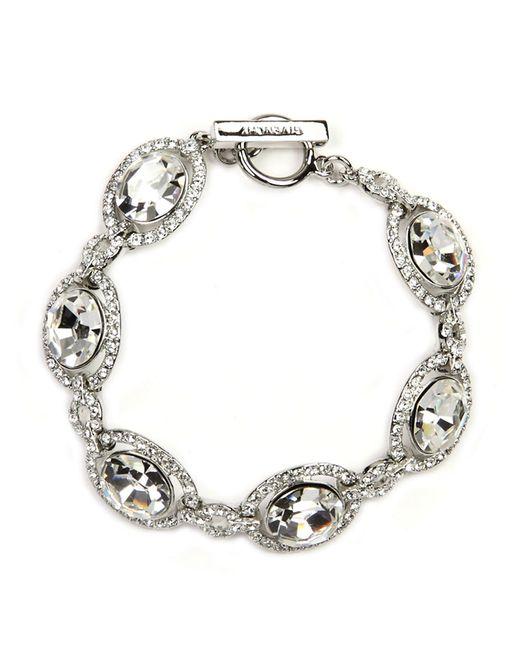 Givenchy | Metallic Bracelet, Silver-tone Swarovski Element Bridal Bracelet | Lyst