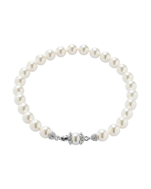 Nadri | White Faux Pearl Bracelet | Lyst