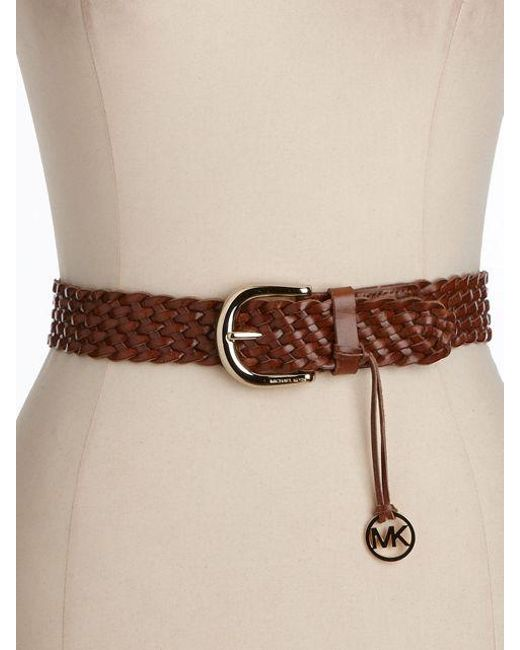 MICHAEL Michael Kors | Brown Braided Belt | Lyst