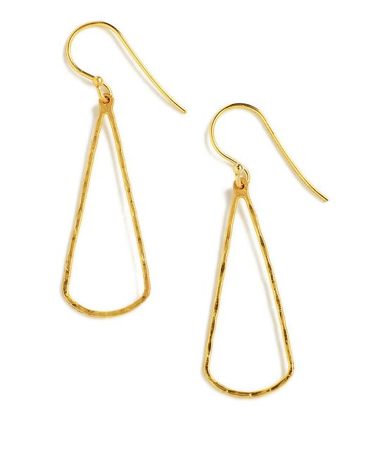 Lord & Taylor | Metallic 18k Gold Over Sterling Silver Linear Drop Earrings | Lyst