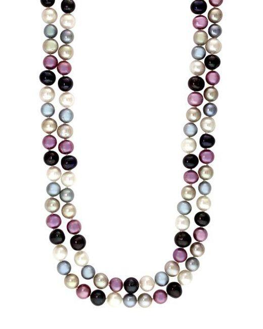 Effy | Purple Multi-color Pearl Necklace | Lyst