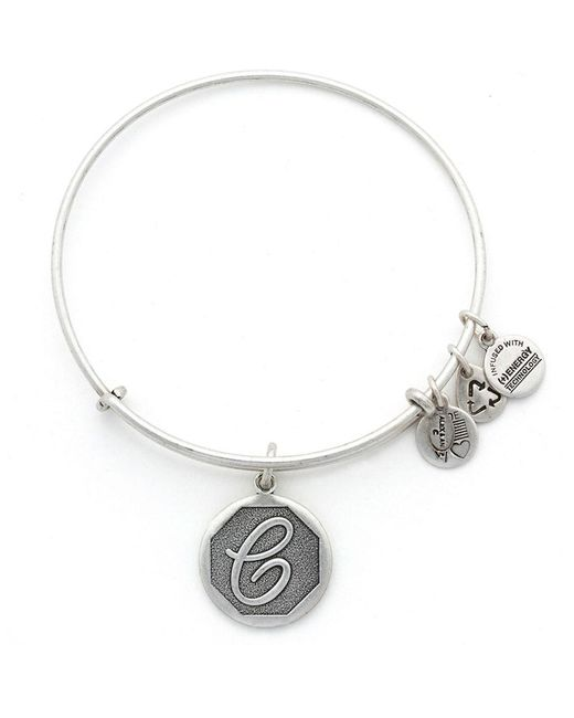 ALEX AND ANI | Metallic Initial C Charm Bangle | Lyst