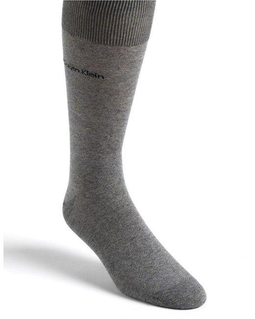 Calvin Klein | Gray Egyptian Cotton Knit Socks for Men | Lyst
