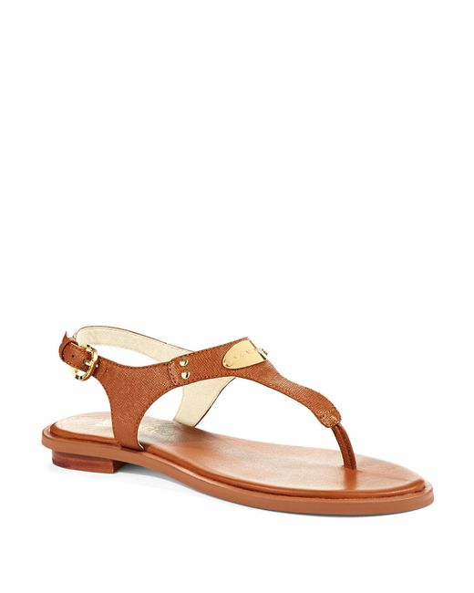 MICHAEL Michael Kors | Brown Plate Slingback Thong Sandals | Lyst