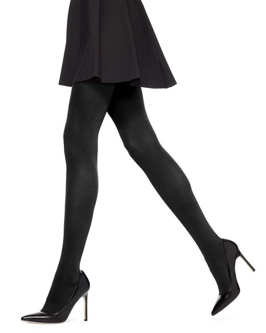 Hue | Black Absolute Opaque Tights | Lyst