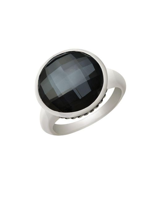 Lord & Taylor   Metallic Sterling Silver Quartz Doublet Ring   Lyst