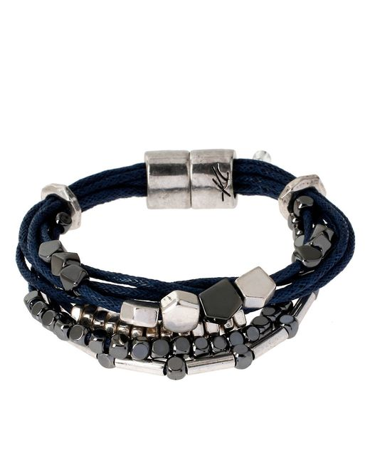 Kenneth Cole | Black Multi-strand Beaded Bracelet | Lyst