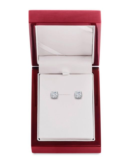 Lord & Taylor | Red Diamond And 14k White Gold Stud Earrings, 3 Tcw | Lyst