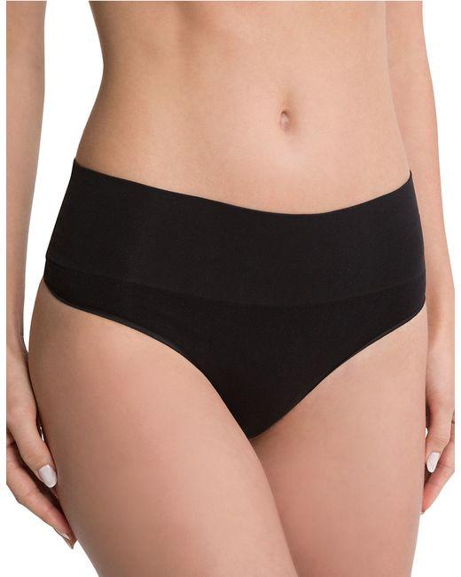 Spanx   Black Shaping Thong Panties   Lyst