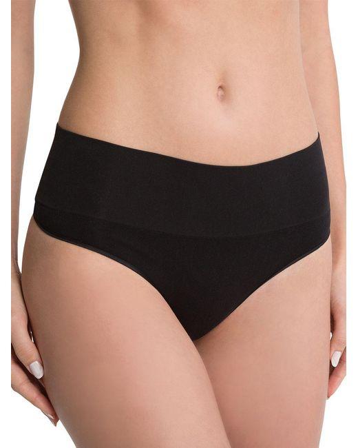 Spanx | Black Shaping Thong Panties | Lyst