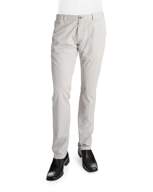 Strellson | Gray Straight-leg Twill Pants for Men | Lyst