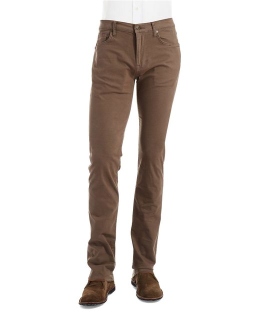 Joe's Jeans | Brown Brixton Twill Pants for Men | Lyst