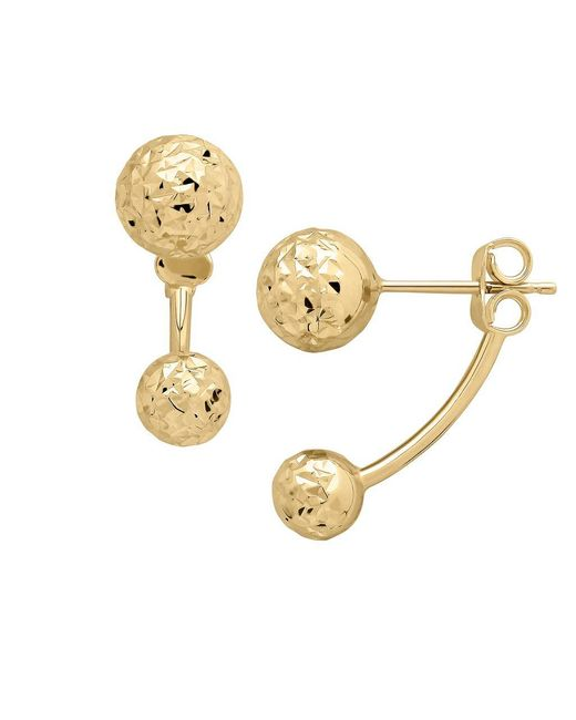 Lord & Taylor | Metallic 14k Yellow Gold Ball Ear Jackets | Lyst