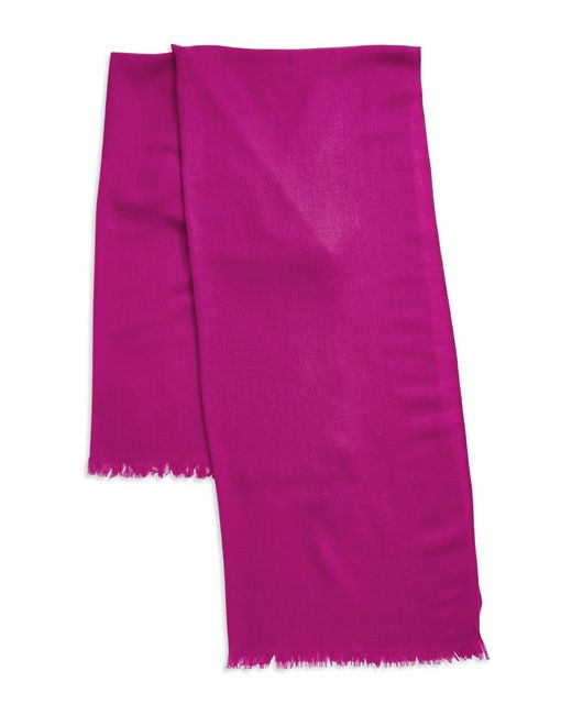 Lord & Taylor | Pink Oversize Wool And Cashmere Wrap Scarf | Lyst