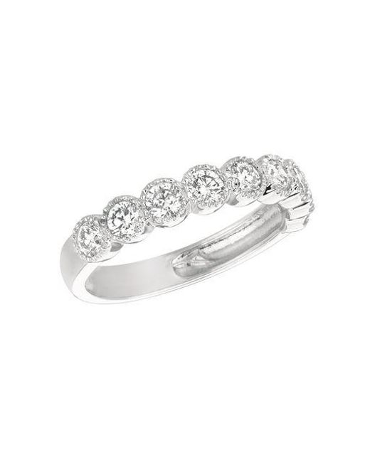 Morris & David | Diamond And 14k White Gold Band | Lyst
