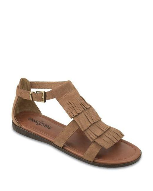 Minnetonka | Brown Maui Fringe Sandals | Lyst