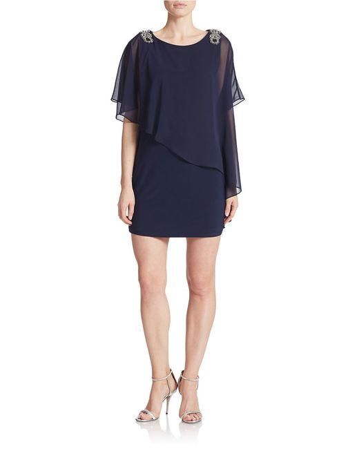 Xscape | Blue Asymmetrical Shift Dress | Lyst