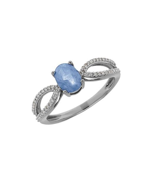 Lord & Taylor | Light Blue Sapphire, Diamond And 14k White Gold Ring | Lyst
