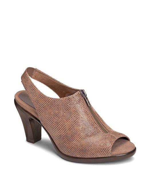 Aerosoles | Brown Dalmatian Slingback Sandals | Lyst