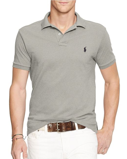 Polo Ralph Lauren | Gray Slim-fit Mesh Polo Shirt for Men | Lyst