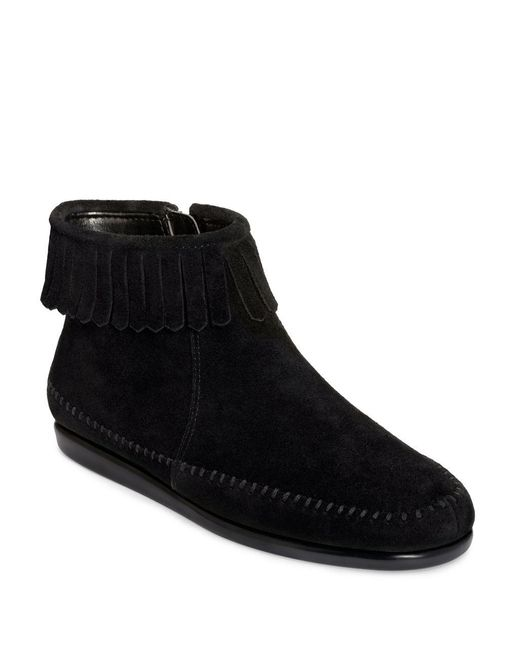 Aerosoles | Black Linbo Suede Booties | Lyst