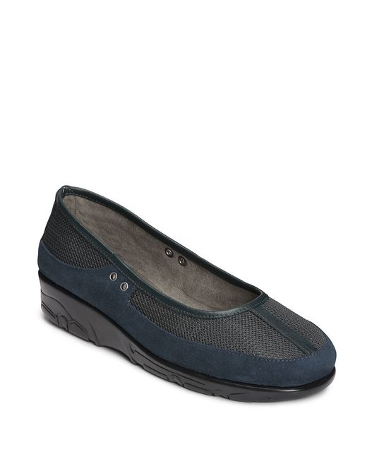 Aerosoles | Blue Neutron Suede Mesh And Leather Loafers | Lyst