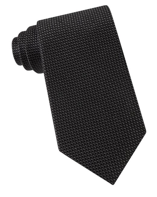MICHAEL Michael Kors | Black Textured Silk Tie for Men | Lyst