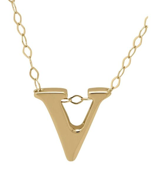 Lord & Taylor   Metallic 14k Gold Pendant Necklace   Lyst