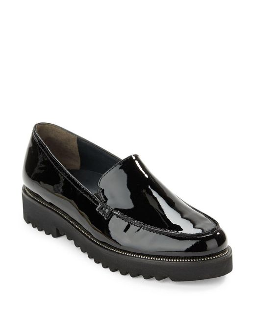 Paul Green | Black Ariana Patent Leather Loafers | Lyst