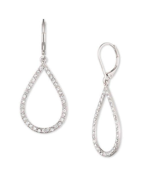 Anne Klein | Metallic Crystalline Teardrop Earrings | Lyst