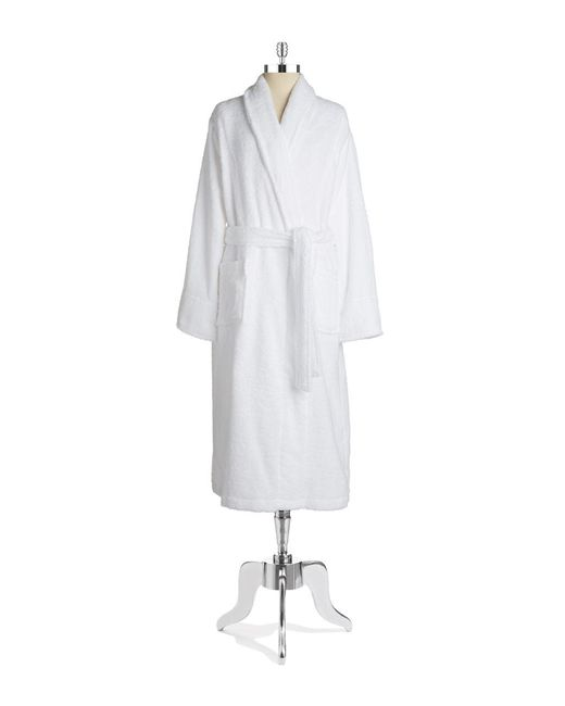 Lord & Taylor | White Cotton Terry Robe | Lyst