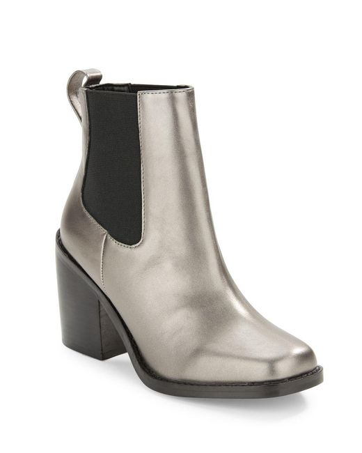 Lord & Taylor | Metallic Koallan Leather Ankle Boots | Lyst