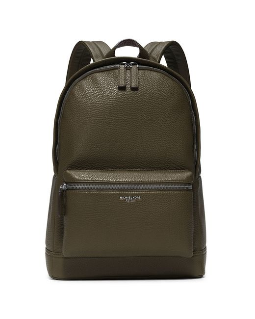 Michael Kors | Green Bryant Pebble-textured Leather Backpack for Men | Lyst