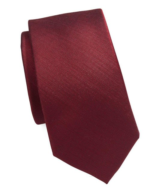 MICHAEL Michael Kors | Red Silk Blend Tie for Men | Lyst