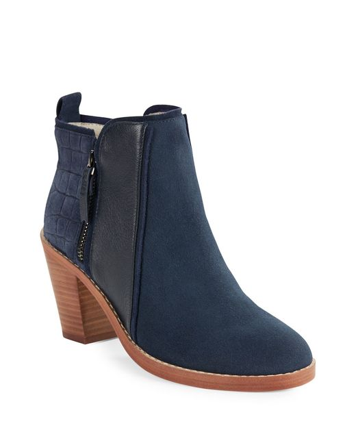 Matt Bernson | Blue Holt Suede And Leather Ankle Boots | Lyst