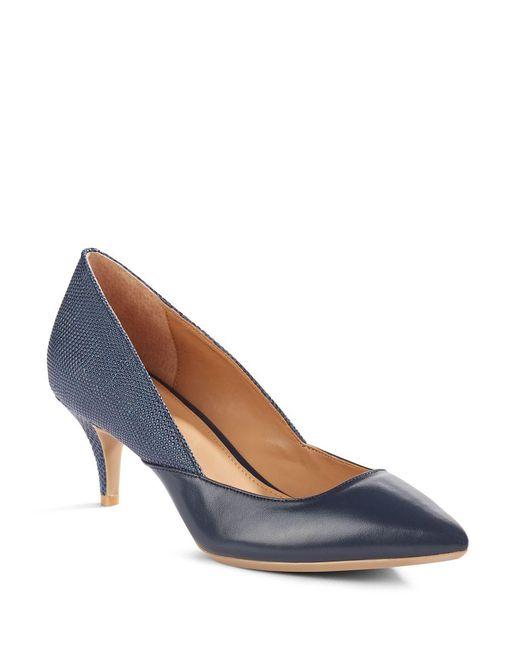 Calvin Klein | Blue Patna Leather Pumps | Lyst