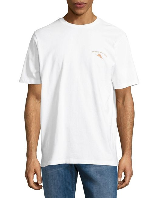 Tommy Bahama Graphic Print Cotton Tee In White For Men Lyst
