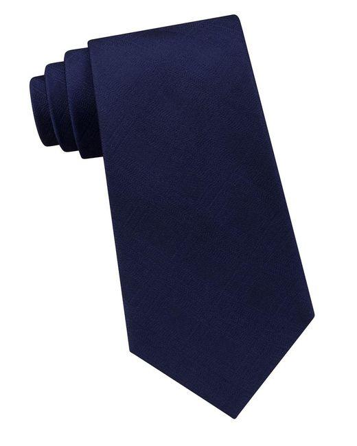 Calvin Klein | Blue Solid Shadow-plaid Tie for Men | Lyst