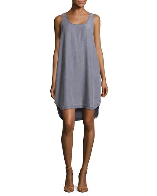 Two By Vince Camuto | Gray Curved Hem Tank Dress | Lyst