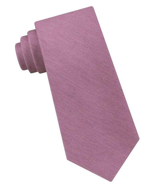 Calvin Klein   Purple Silk Tonal Tie for Men   Lyst