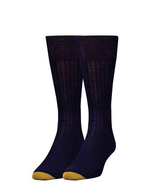 Goldtoe   Blue Comfort Toe Seam Socks for Men   Lyst