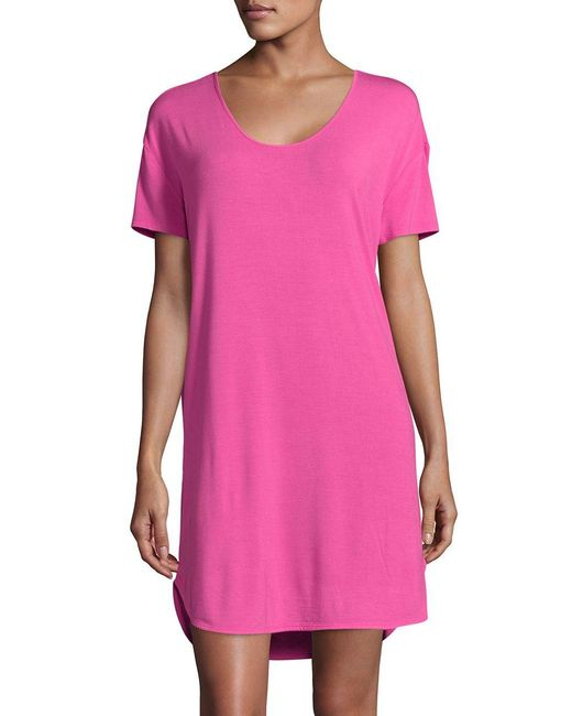 Lord & Taylor   Pink Knit Nightshirt   Lyst