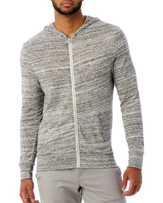 Alternative Apparel | Gray Eco Zip Hoodie for Men | Lyst