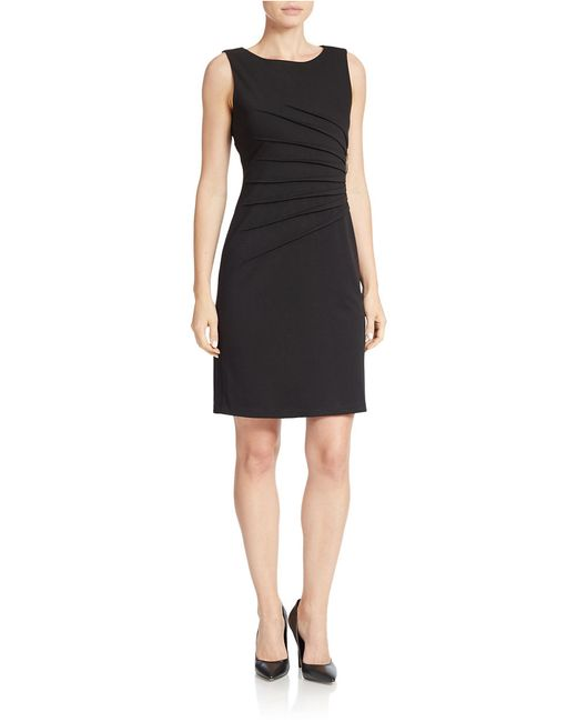 Ivanka Trump | Black Ponte Sunburst Pleat Dress | Lyst